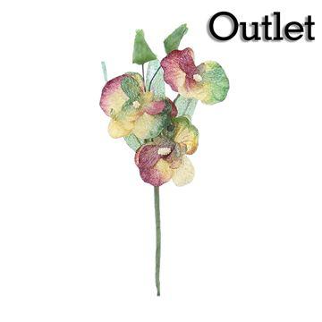 Orchidee 3 bloemen bordeaux/cognac/rood
