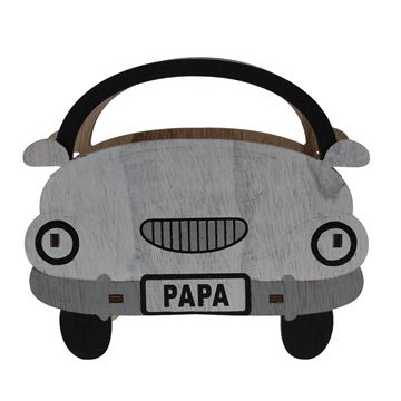 Papa bakje open auto